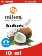 E liquid Milsen Kokos 0 mg 10 ml