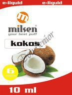 E liquid Milsen Kokos 6 mg 10 ml
