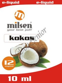 E liquid Milsen Kokos 12 mg 10 ml