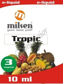 E liquid Milsen Tropic 3 mg 10 ml, moc: 3 mg
